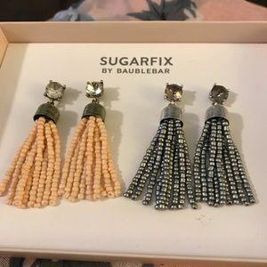 Sugarfix by Baublebar Jewelry - Beaded drop tassel earrings